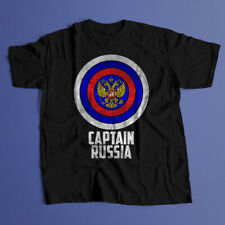 Captain Russia t-shirt 100% cotton t-shirt Printed FRONT & BACK
