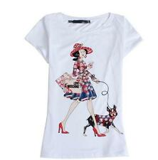 SHIRT WOMAN LOVE MOSCHINO DOG FASHION