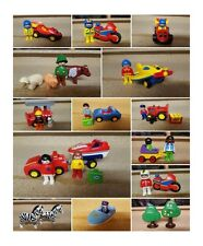 playmobil 123 plane motorbike boat tractor racing car farmer luggage fire engine