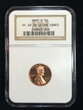 1990 S LINCOLN CENT PROOF 1C PF69 RD ULTRA CAMEO NGC; SKU 2029