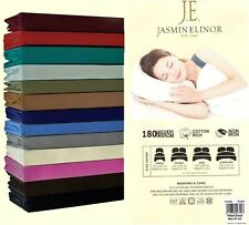 T180 PC Percale Poly Cotton Non Iron Fitted,Fitted 26 cm Drop Bed Sheets