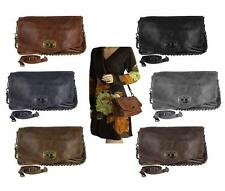ital Ladies' Handbag Leather Vintage Shoulder Bag Clutch Chain bag