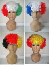 Country football Supporter Afro Wig Fancy Dress Costume