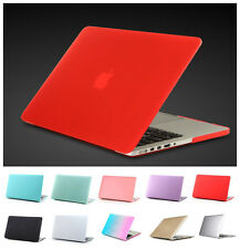 For Macbook Pro Air 11 13 15 Retina 12 Hard Rubberized Case+ Free Keyboard Cover