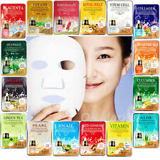 Face Mask Sheet Pack Facial Skin Wrinkle Care Moisture Essence Collagen Korean