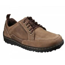 Hush Puppies BELFAST OXFORD Mens Leather Nubuck Dual Fit Outdoor Shoes Brown