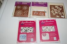 Spellbinders Embossing Stenciling & cutting Dies Wreath Stocking Rose Daisy