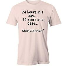 24 Hours In A Day 24 Beers In A Case Coincidence T-shirt Tee New