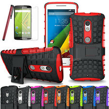 Impact Rugged Hybrid Rubber Stand Hard Case Cover For Motorola Droid Maxx 2