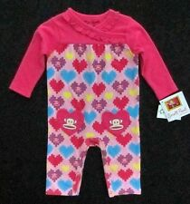 Small Paul by Paul Frank Infant & Toddler Girls 1-Piece Magenta Romper MSRP $38