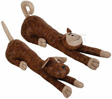 Faux Leather Suede Animal Draught Excluder Heavy Door Stop Draft Guard Cat Dog