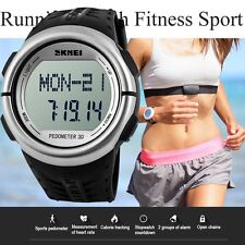 Pedometer Fitness Running Sport Counter Digital Heart Rate Monitor Wrist Watch