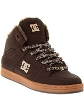 DC Brown-Gum Rebound Winter Sherpa Lined Kids Hi Top Shoe