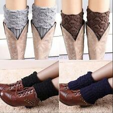 Cute New Women Crochet Boot Cuffs Shell Knitted Toppers Boot Socks Leg Warmers