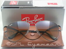 Ray Ban Aviator Light Brown Gradient RB3025 004/51 Gunmetal Sunglasses RB 58 mm