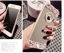 Luxury Crystal Mirror TPU Case Cover W/Rhinestone For Apple iPhone 6 6S Plus 5S