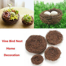 Handmade Vine Brown Bird Nest House Home Nature Craft Holiday Decoration