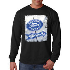 Ford Genuine Parts Service Distressed Sign Classic Auto Car Long Sleeve T-Shirt