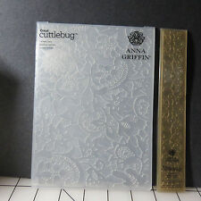 "Anna Griffin Embossing Folder  5"" x 7"" with Matching Border 1.25"" x 7.25"""