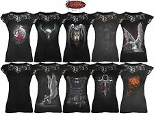 Spiral Direct NEW LACE NECK CORSET Top/Goth/Rose/Steampun/Dragon/Rock/Xmas Gift