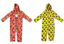 DESPICABLE ME MINIONS JUMPSUIT HOODED FLEECE PYJAMAS KIDS BOYS GIRLS