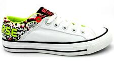Womens CONVERSE CT BAND OX White Canvas Trainers 145287F