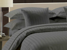 "New Hotel Collection Egyptian Cotton ""Gray"" Striped 1000TC 100% US Bedding Item"