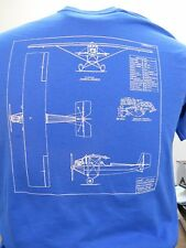 T-SHIRT PIETENPOL AIR CAMPER BLUE PRINT, airplane