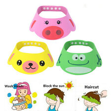 Lovely Baby Kid Safe Shampoo Bath Shower Adjustable Cap Hat Wash Hair Eye Shield