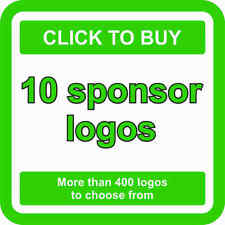 10 SPONSOR Logos Decals JDM Stickers - More than 400 logos to choose from