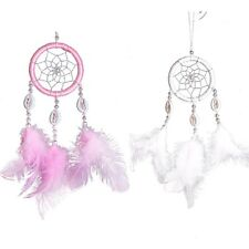 Pretty Dream Catcher Circular With Feathers Wall Hanging Decor Ornament Craft
