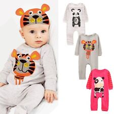 Newborn Baby Boys Girls Animal Bodysuit Outfit Costume Romper Clothes Set 0-24M