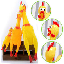 Hot Yellow Screaming Rubber Chicken Pet Dog Toy Squeak Chicken Christmas Gifts