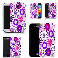 gel rubber case cover for  Mobile phones - purple daisy silicone
