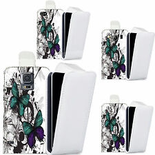 pu leather flip case cover for majority Mobile phones -delicate butterflies flip