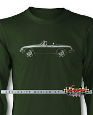 MG MGB MKIII Convertible Long Sleeves T-Shirt - Multiple Colors and Sizes