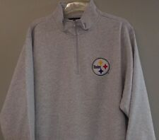 NFL Pittsburgh Steelers Heavyweight Embroidered Mens 1/4 Zip Pullover S-4XL New