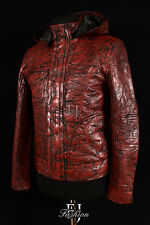 GHOST PROTOCOL BROWN Mens Mission Impossible Hooded Movie Real Leather Jacket
