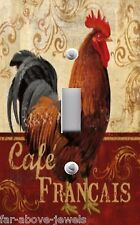 Light Switch Plate Outlet Covers TUSCAN ~ CAFE FRANCAIS FRENCH ROOSTER