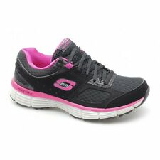 Skechers AGILITY - PERFECT FIT Ladies Womens Fitness Trainers Black/Hot Pink