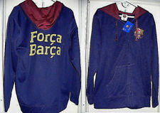 FC BARCELONA Soccer Team Authentic Official Product Hooded Sweater Jacket