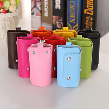 New Men Women PU Leather Key Chain Accessory Pouch Bag Key Rings Case Holder