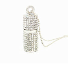 Crystal Jewelry Lipstick Shape USB Flash Drive U Disk Pendant for Necklace 8-32