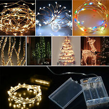 20/30/40LED Copper Wire Battery Powered String Fairy Light Xmas Party Home Decor