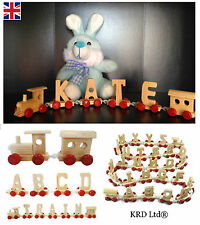 Personalised Kids Baby Name Wooden Train Letters Nursery Room Decor Keepsake Toy