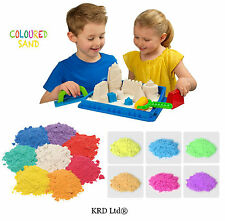 Kids Coloured Magic Sand Never Dry Moving Colour Play Sand Toddler Children Toys