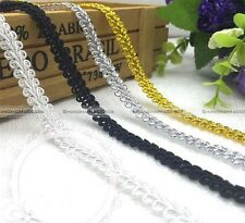 25M 8mm Golden/Silver Lace Braided Gimp Sewing Trimming Clothing Lace Ribbon