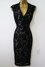 M&CO BLACK LACE PENCIL DRESS SIZE 10 - 20 NEW WIGGLE GALAXY PIN UP NUDE LINING