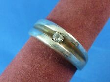 Sterling Silver Inset Round CZ Cocktail Ring Band Ring Size 7