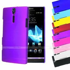 Case Back Cover Matte Rubberized Coated Plastic Snap-on For Sony Xperia S Lt26i